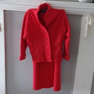 Vintage fashion sweater/skirt set
